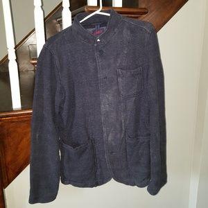 Grayers M Navy button up cotton jacket